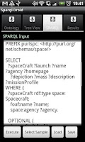 Screenshot of Sparql Droid