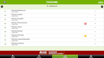 Screenshot of PMU résultats des courses