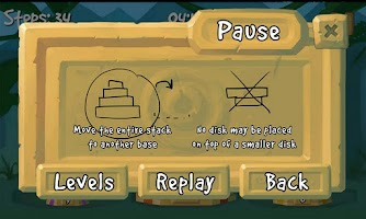 Screenshot of Tower of Hanoi Deluxe