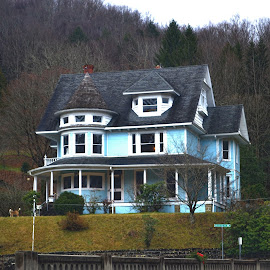 Beautiful Old Home by Linda Blevins - Buildings & Architecture Homes ( old, grass, beautiful, trees, house )