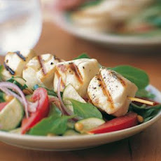 Halibut Skewers with Arugula Salad