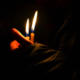 all about the light by Rux Georgescu - Novices Only Abstract ( candle, candle light, easther )
