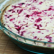 Low-Sugar Raspberry Cheesecake with Pecan Crust