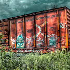 by Maurice FitzGerald - Transportation Trains ( hdr, graffiti, nashville, soraxtm, tennessee )