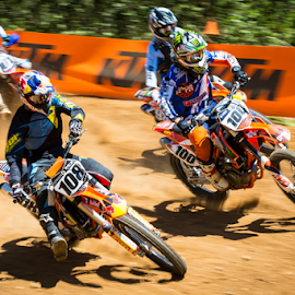 Hole shot by Rich Sutherland - Sports & Fitness Motorsports ( motocross, adrenaline, speed, racing, fmx, mx, fast )