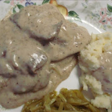 Deer Steaks and Gravy (Venison)
