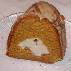 White Chocolate Ribbon Pumpkin Cake With Maple Glaze