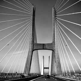 Vasco da Gama Bridge by Manuel Correia Macieira - Buildings & Architecture Bridges & Suspended Structures ( mancormac, vasco da gama, europe longest bridge, bridge, portugal )
