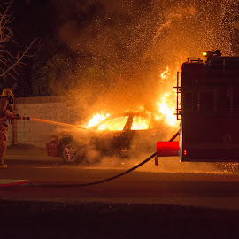 Fire and Brimstone by Antonio Gilbreath - News & Events Disasters ( ag media enterprises, smoldering, county, arson, lacfd, los angeles, antonio gilbreath, smoke, fire, fire department,  )
