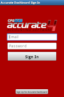 Screenshot of ACCURATE Dashboard