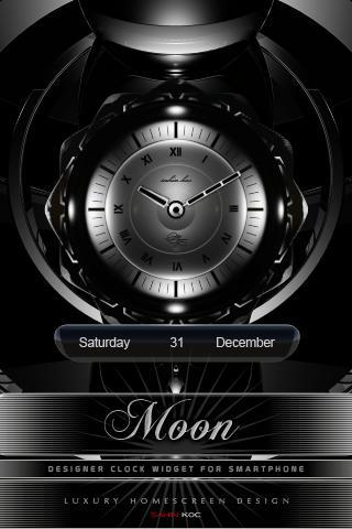 月亮上的美麗時鐘部件
