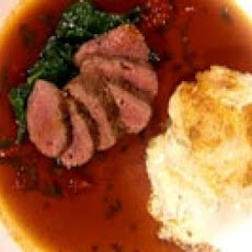 Roast Lamb with Tomato Gravy