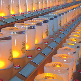 Candles of a Church  by Helen  Wang - Abstract Patterns