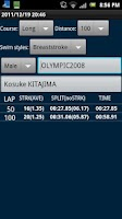 Screenshot of Swimmer's StopWatch