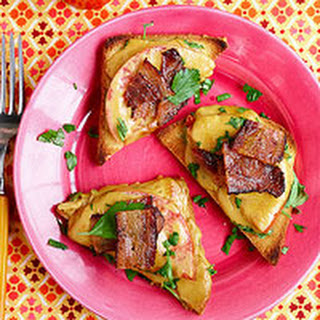 BLT Toast Points with Welsh Rarebit