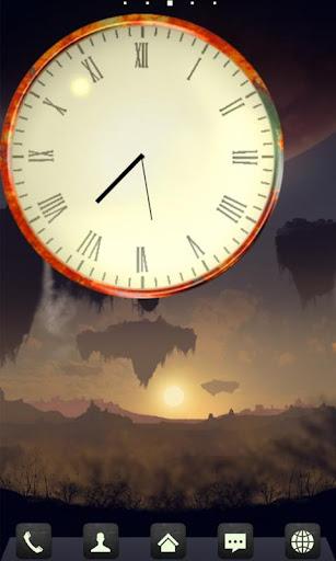 生鏽的時鐘小工具