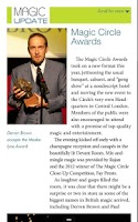 Screenshot of MAGIC Magazine