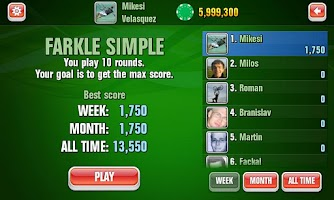 Screenshot of FARKLE