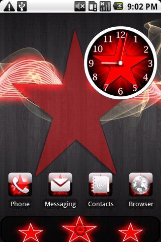 Star Theme Red HD