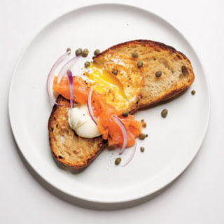 Egg in a Hole With Smoked Salmon