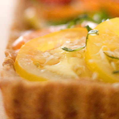 Heirloom Tomato Tart in a Parmesan Crust