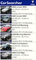 Screenshot of Car Searcher