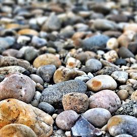 North Shore by Mo Harmon - Nature Up Close Rock & Stone ( water, shore, nature, rocky, pebbles, beach, waterfront, natural, rocks )