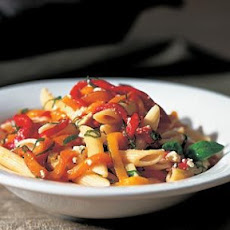 Penne with Roasted Peppers & Vermouth