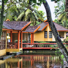 House on the water by Ram Ramkumar - Novices Only Objects & Still Life ( back_waters, house_on_water, cottage, kerala, resort, kumarakom,  )