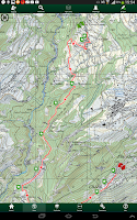 Screenshot of SityTrail Switzerland