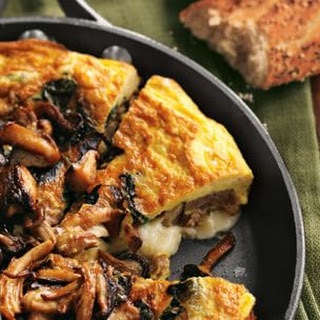 Frittata with Sausage, Wild Mushrooms and Cheddar