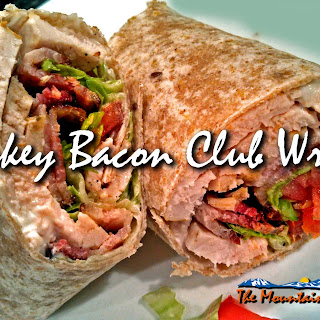 Bacon Turkey Club Wraps