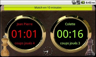 Screenshot of Chronomètre chess clock