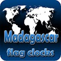 Madagascar flag clocks