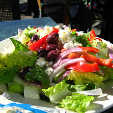Greek Salad With Shaved Fennel