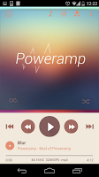 Screenshot of Poweramp skin 2in1 Flat Autumn