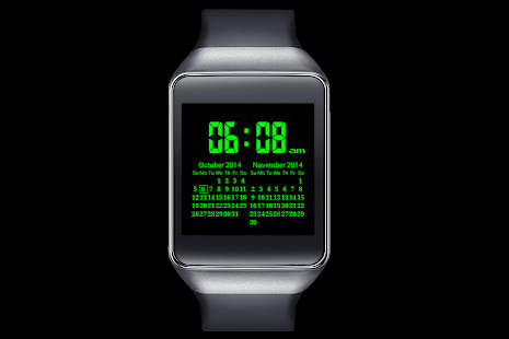 A09 WatchFace for Android Wear - screenshot