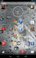 Screenshot of Galaxy S5 Rain Drop LWP