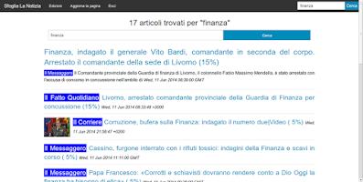 Screenshot of Sfoglia La Notizia