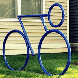 Bike Rack.... by Susanne Carlton - Artistic Objects Other Objects