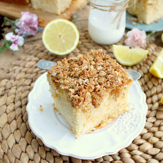 Lemon Greek Yogurt Crumb Cake
