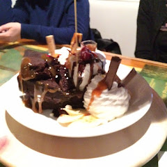 GF brownie sundae