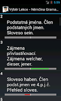 Screenshot of Němčina - Gramatika