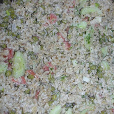 Scandinavian Rice Salad With Smoked Salmon
