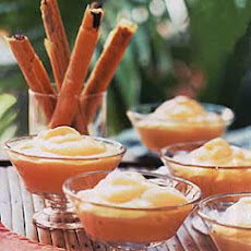 Mango Fools with Chocolate-Anise Straws