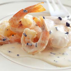 Poached Salmon with Truffles and Shrimp in Cream Sauce