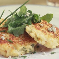 Indian Potato Pancakes with Curry-Lime Yogurt