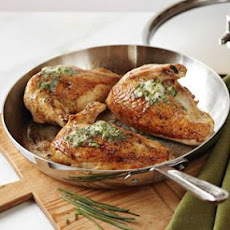 Pan-Roasted Chicken with Herb Compound Butter