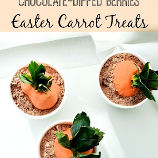 Chocolate-Dipped Berries Easter Carrot Treats