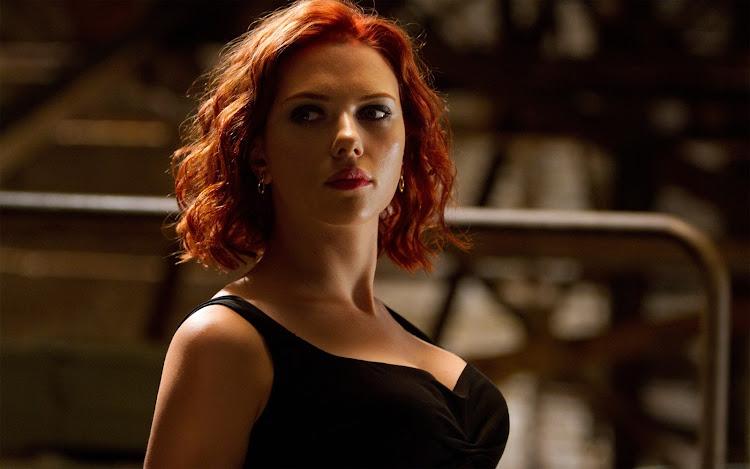 6. Scarlett Johansson in movie Avengers.